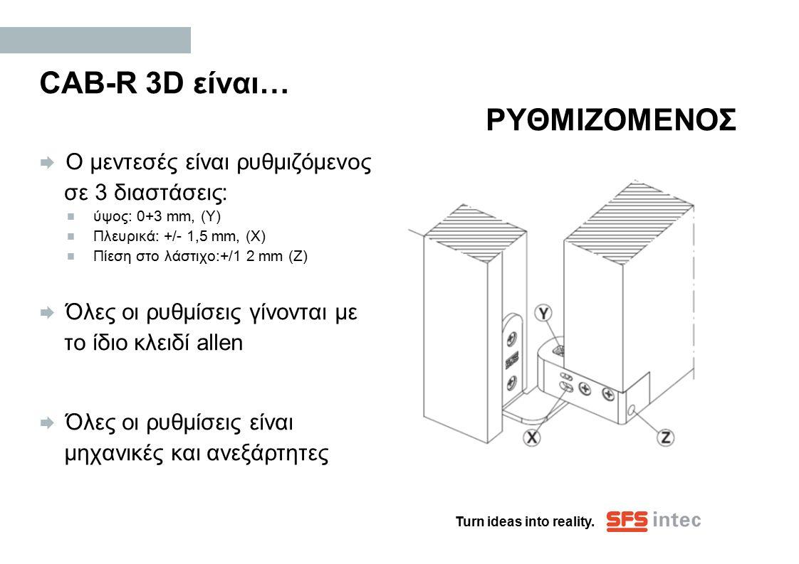CAB-R 3D είναι… ΡΥΘΜΙΖΟΜΕΝΟΣ