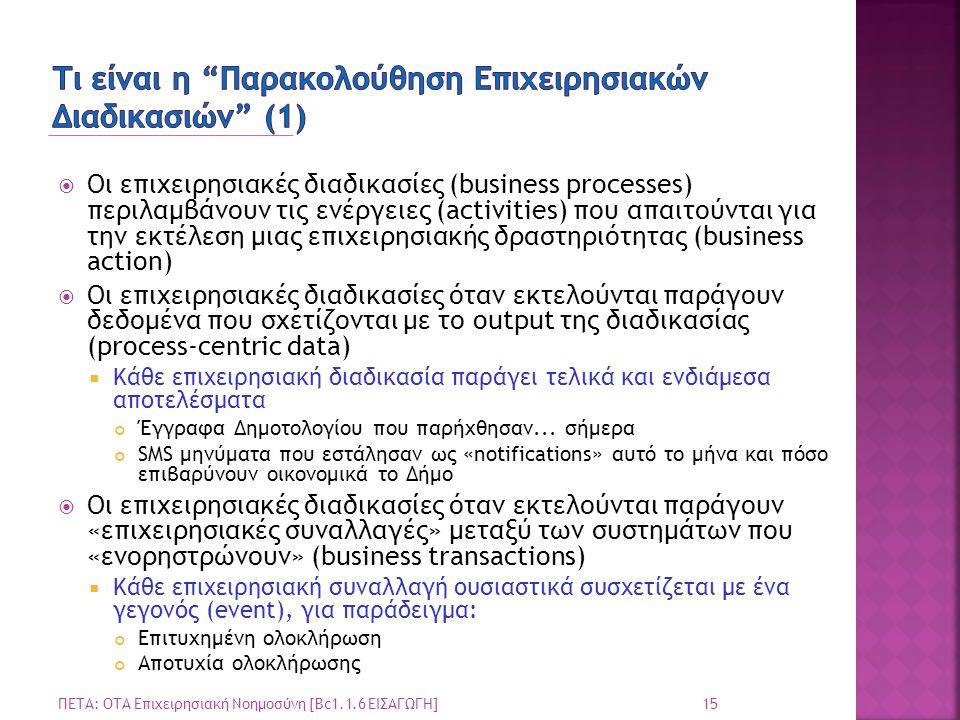 Τι είναι η Παρακολούθηση Επιχειρησιακών Διαδικασιών (1)