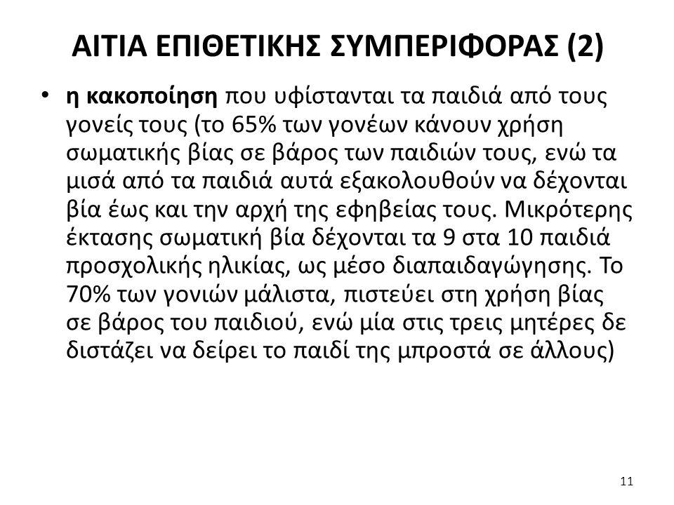 ΑΙΤΙΑ ΕΠΙΘΕΤΙΚΗΣ ΣΥΜΠΕΡΙΦΟΡΑΣ (2)