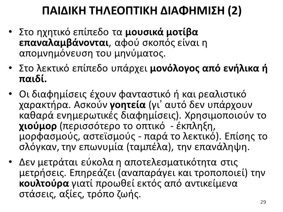 ΠΑΙΔΙΚΗ ΤΗΛΕΟΠΤΙΚΗ ΔΙΑΦΗΜΙΣΗ (2)