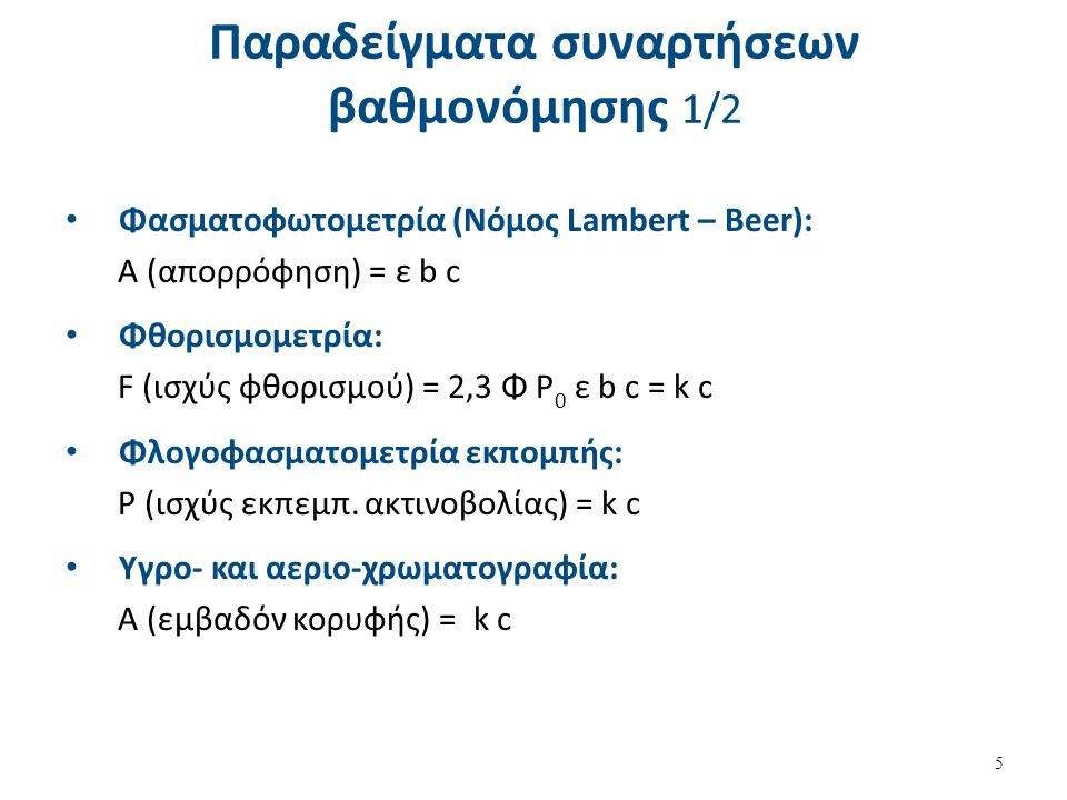 Παραδείγματα συναρτήσεων βαθμονόμησης 2/2