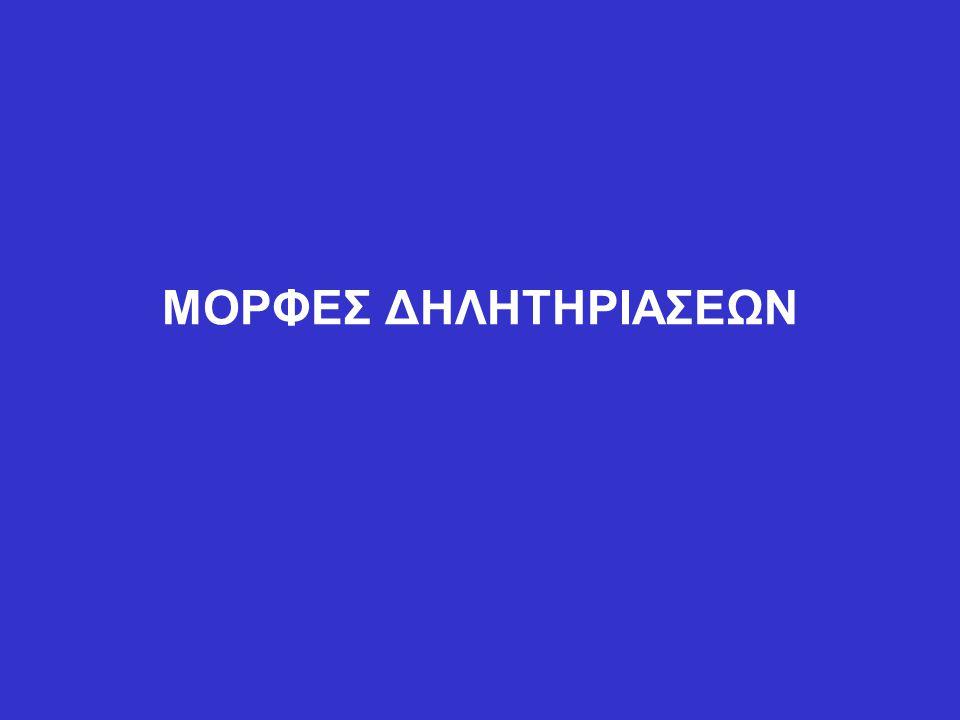 ΜΟΡΦΕΣ ΔΗΛΗΤΗΡΙΑΣΕΩΝ