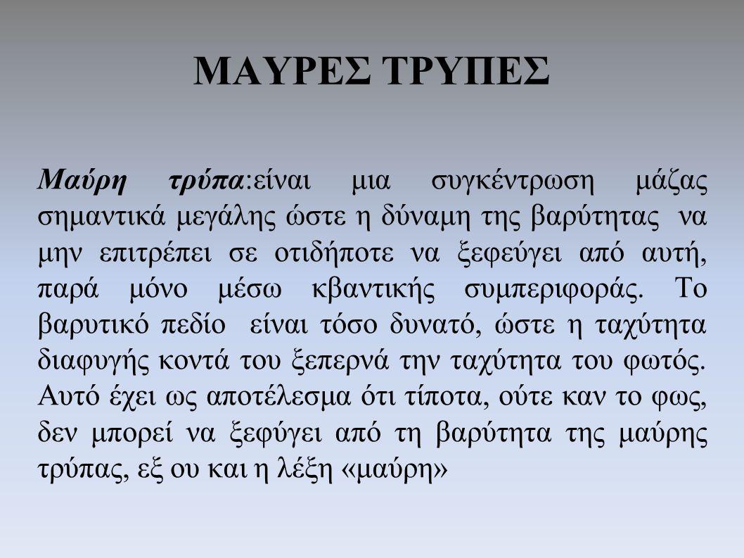 ΜΑΥΡΕΣ ΤΡΥΠΕΣ