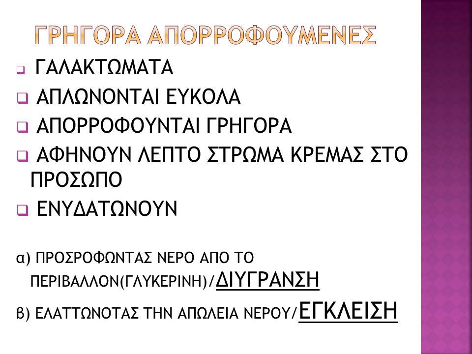 ΓΡΗΓΟΡΑ ΑΠΟΡΡΟΦΟΥΜΕΝΕΣ