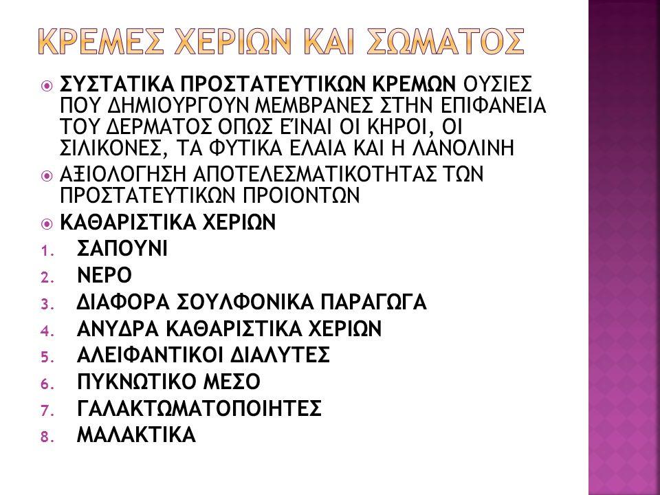 ΚΡΕΜΕΣ ΧΕΡΙΩΝ ΚΑΙ ΣΩΜΑΤΟΣ