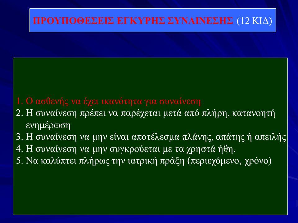 ΠΡΟΥΠΟΘΕΣΕΙΣ ΕΓΚΥΡΗΣ ΣΥΝΑΙΝΕΣΗΣ (12 ΚΙΔ)