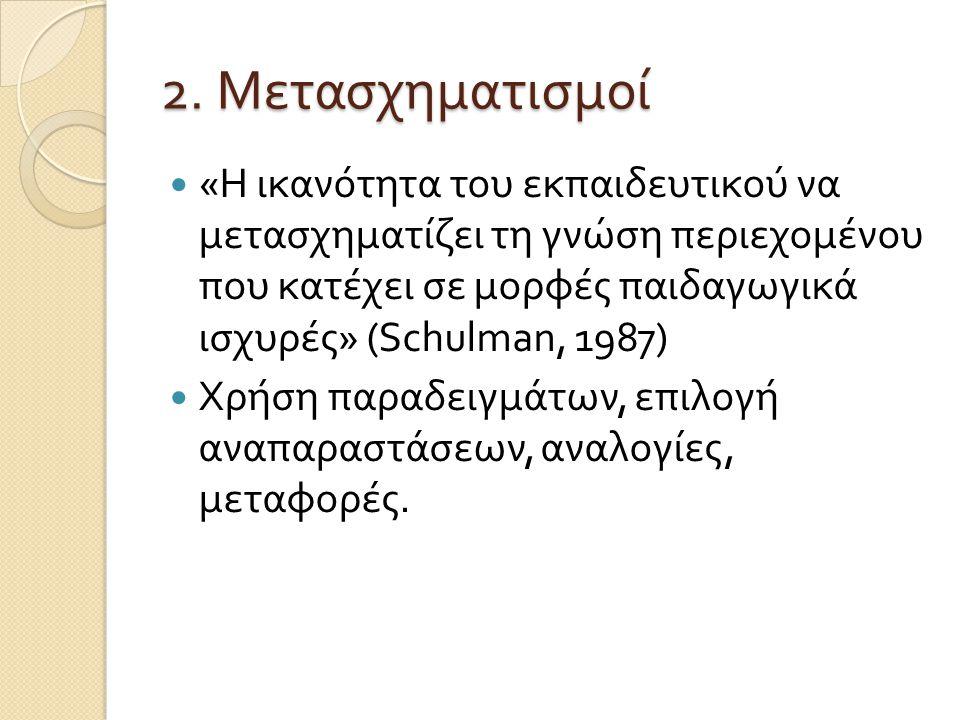 2. Μετασχηματισμοί