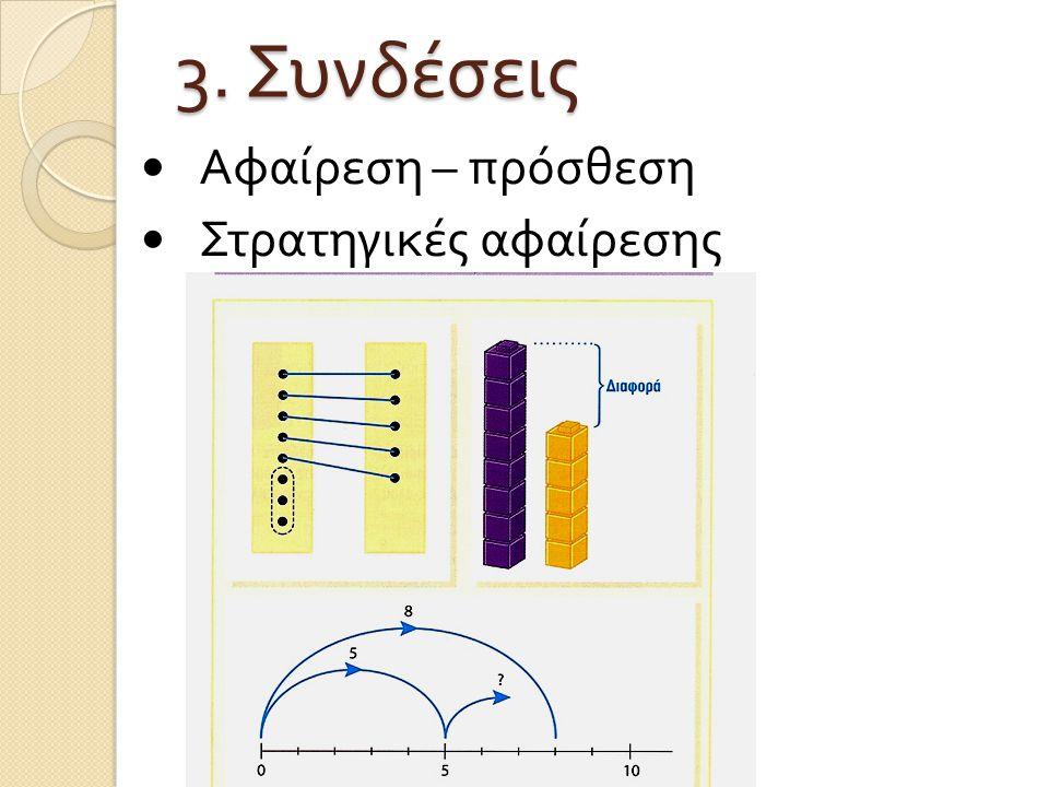 3. Συνδέσεις Αφαίρεση – πρόσθεση Στρατηγικές αφαίρεσης