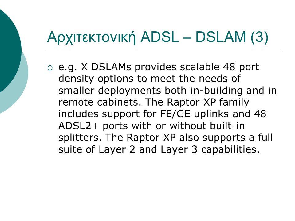 Αρχιτεκτονική ADSL – DSLAM (3)