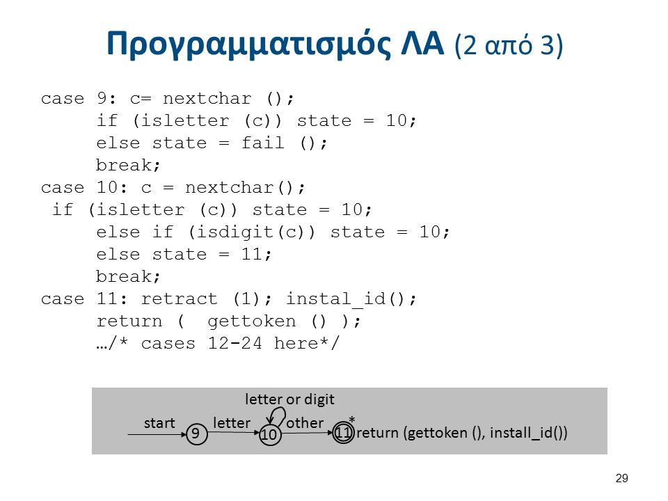 Προγραμματισμός ΛΑ (3 από 3)