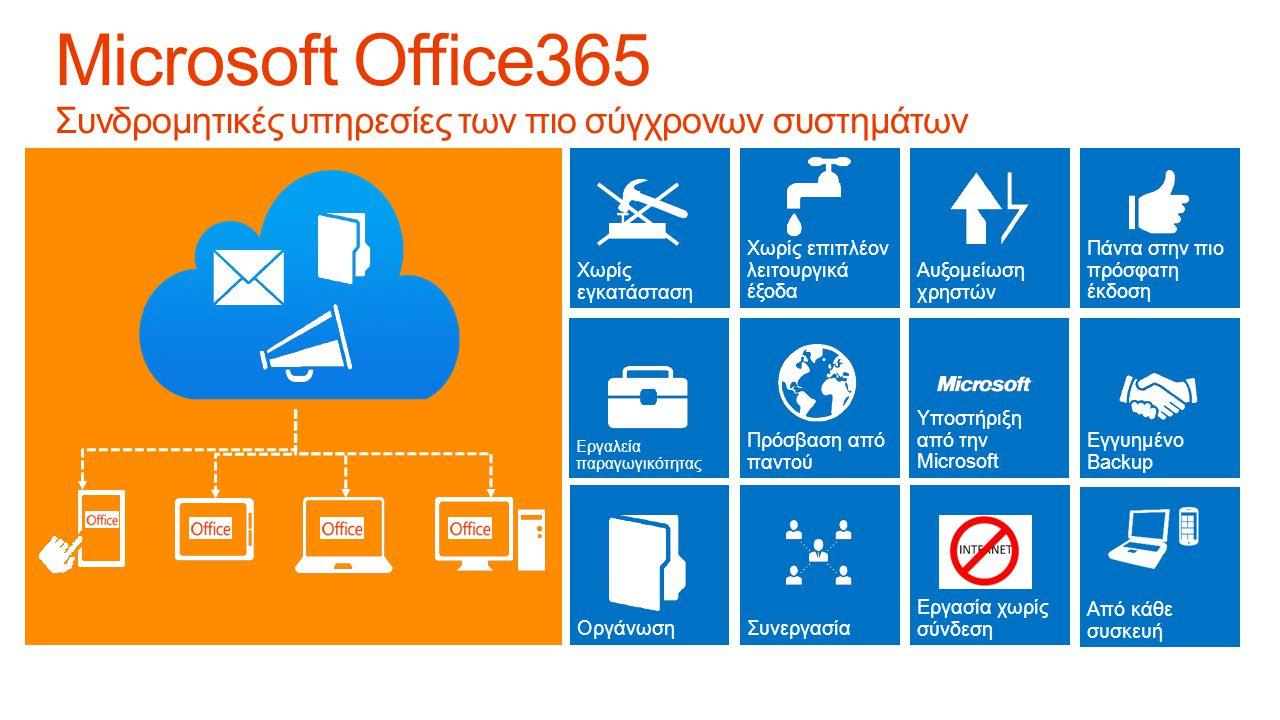 Microsoft Office365 Συνδρομητικές υπηρεσίες των πιο σύγχρονων συστημάτων