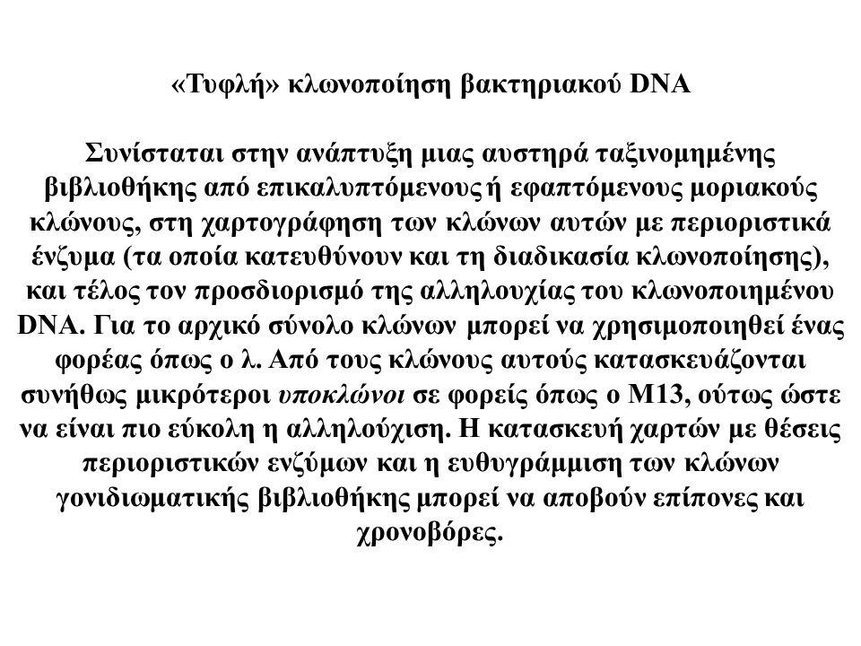 «Τυφλή» κλωνοποίηση βακτηριακού DNA