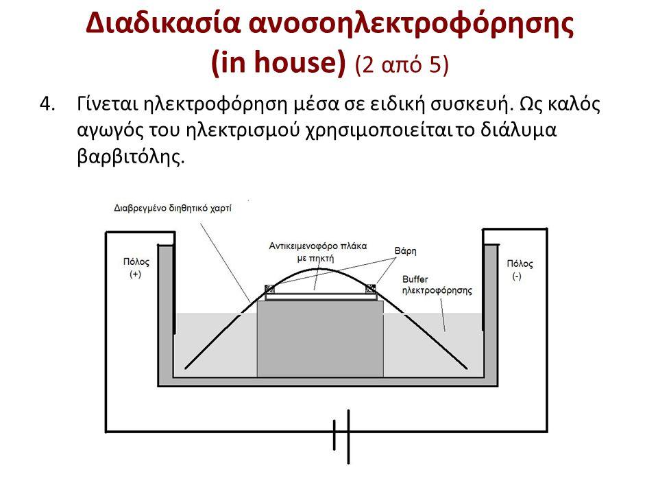 Διαδικασία ανοσοηλεκτροφόρησης (in house) (3 από 5)