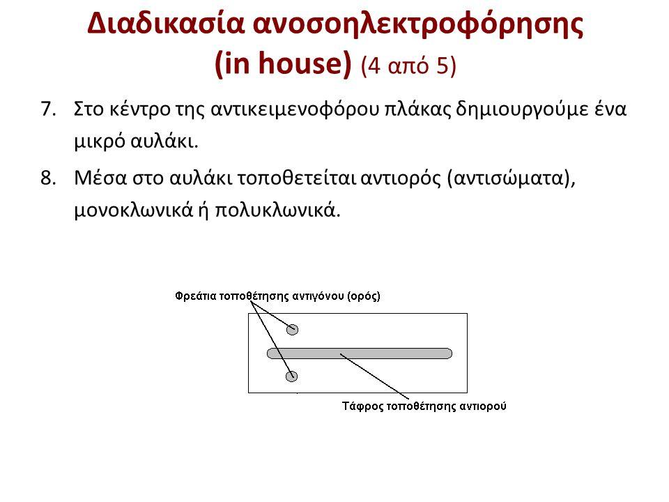 Διαδικασία ανοσοηλεκτροφόρησης (in house) (5 από 5)