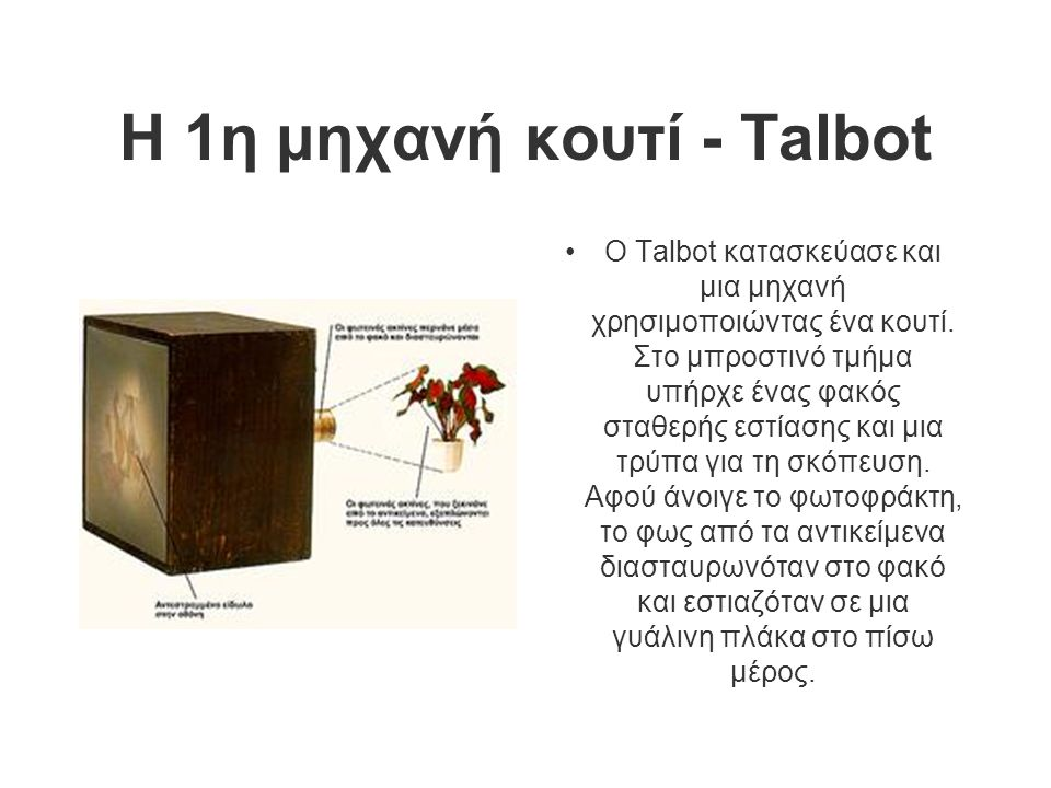 Η 1η μηχανή κουτί - Talbot
