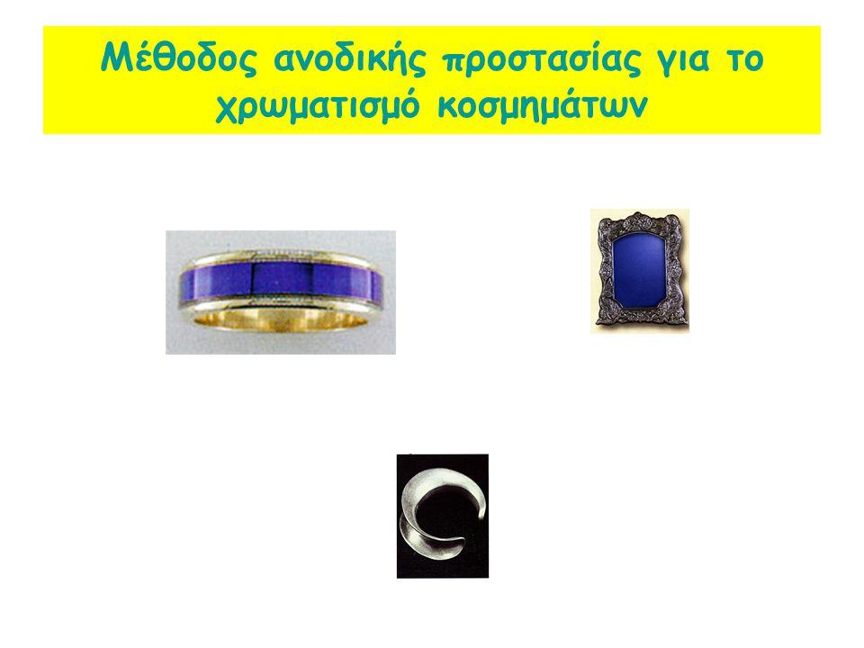 Μέθοδος ανοδικής προστασίας για το χρωματισμό κοσμημάτων