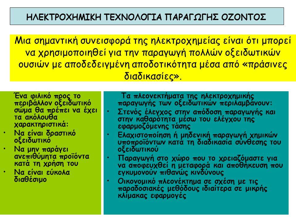 ΗΛΕΚΤΡΟΧΗΜΙΚΗ ΤΕΧΝΟΛΟΓΙΑ ΠΑΡΑΓΩΓΗΣ ΟΖΟΝΤΟΣ