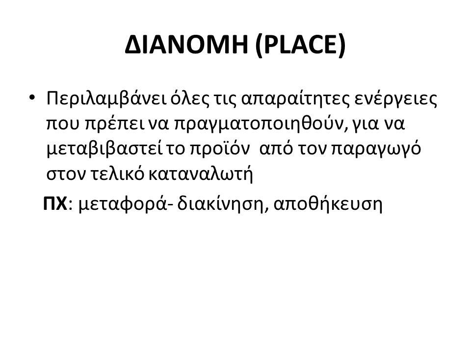 ΔΙΑΝΟΜΗ (PLACE)