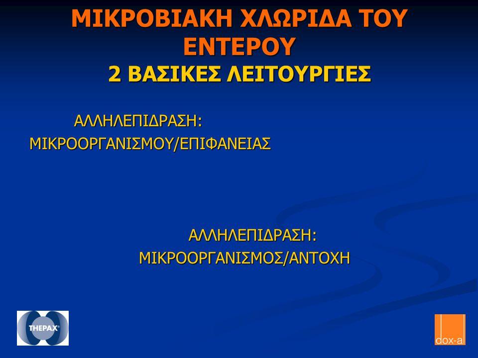 ΜΙΚΡΟΒΙΑΚΗ ΧΛΩΡΙΔΑ ΤΟΥ ΕΝΤΕΡΟΥ 2 ΒΑΣΙΚΕΣ ΛΕΙΤΟΥΡΓΙΕΣ