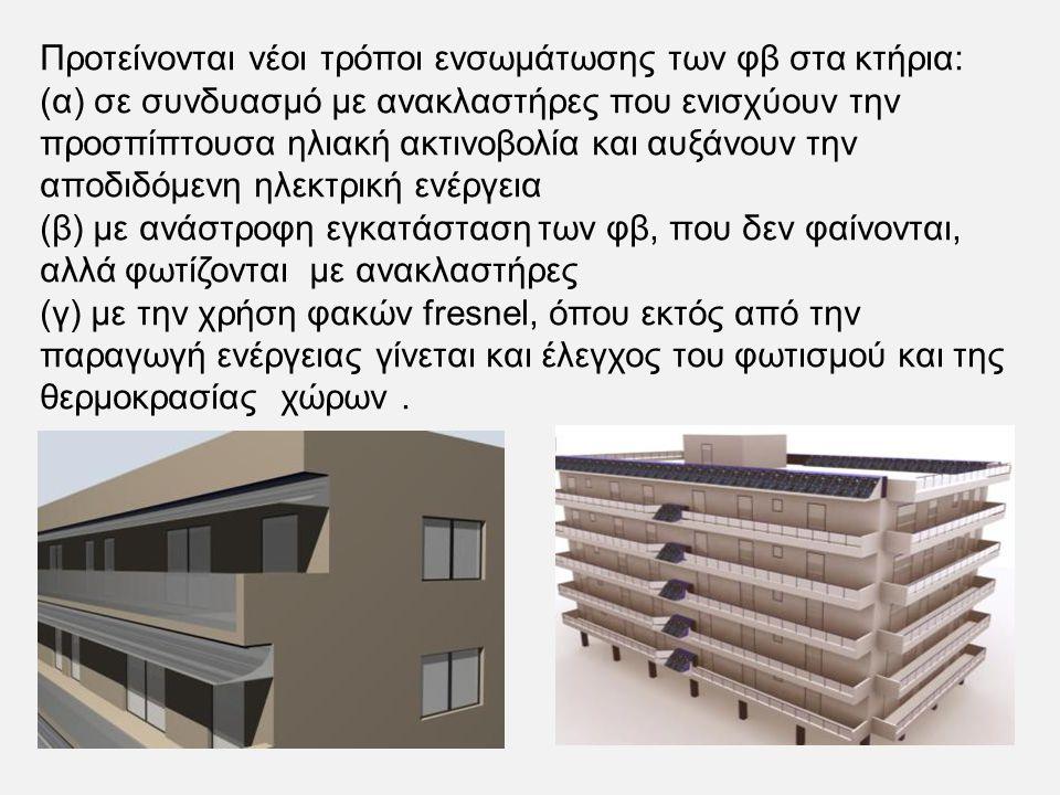 Προτείνονται νέοι τρόποι ενσωμάτωσης των φβ στα κτήρια:
