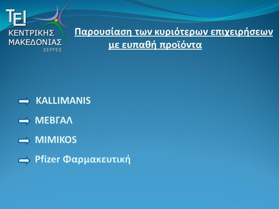 KALLIMANIS ΜΕΒΓΑΛ MIMIKOS Pfizer Φαρμακευτική
