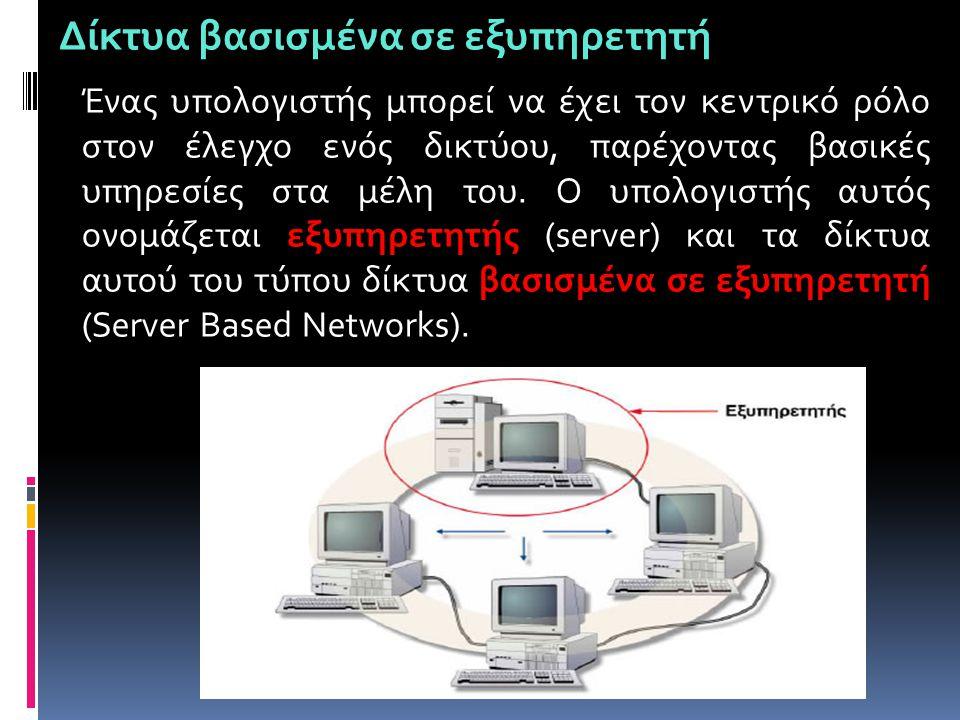 Δίκτυα βασισμένα σε εξυπηρετητή