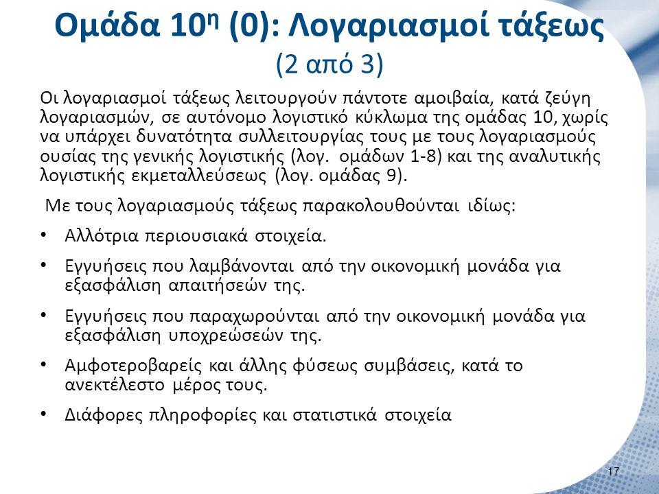 Ομάδα 10η (0): Λογαριασμοί τάξεως (3 από 3)