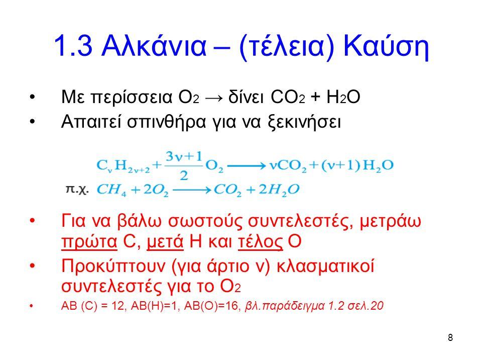 1.3 Αλκάνια – (τέλεια) Καύση
