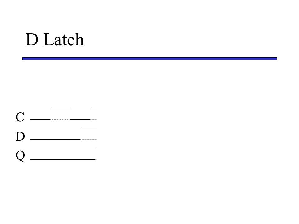 D Latch C D Q
