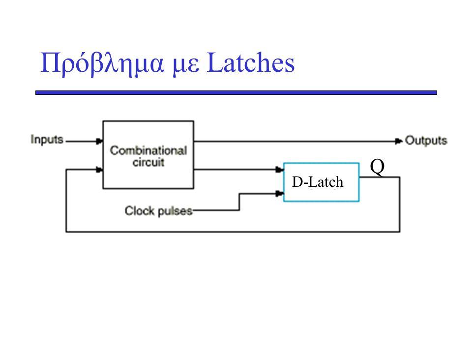 Πρόβλημα με Latches Q D-Latch