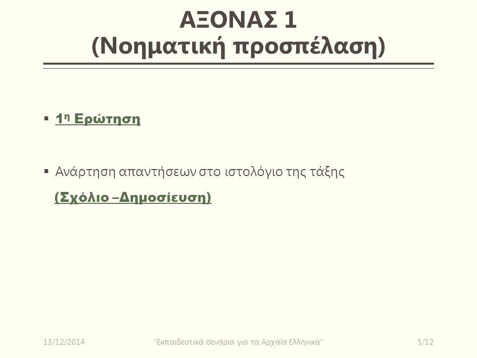 ΑΞΟΝΑΣ 1 (Νοηματική προσπέλαση)