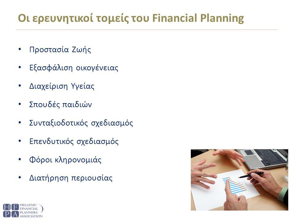 Οι ερευνητικοί τομείς του Financial Planning