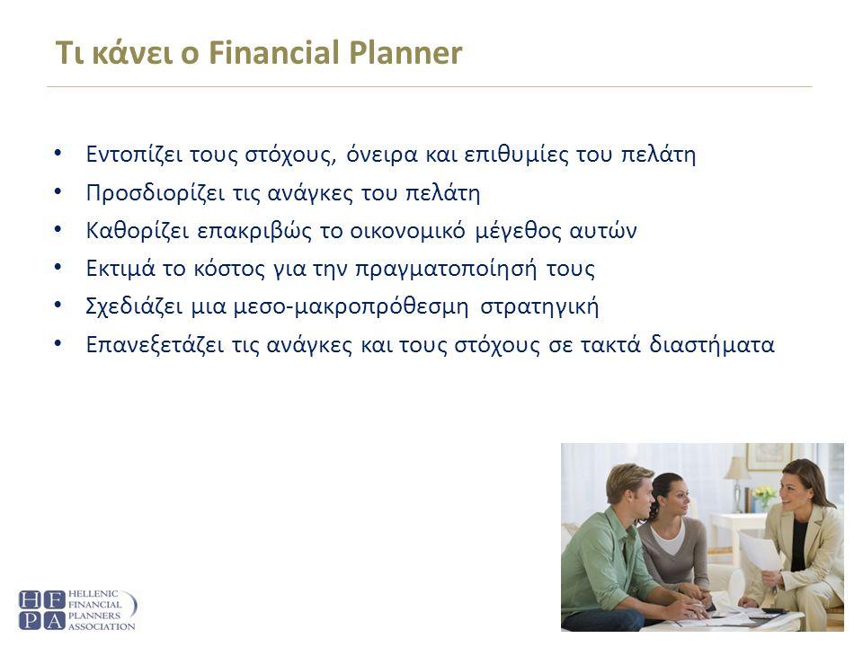 Τι κάνει ο Financial Planner