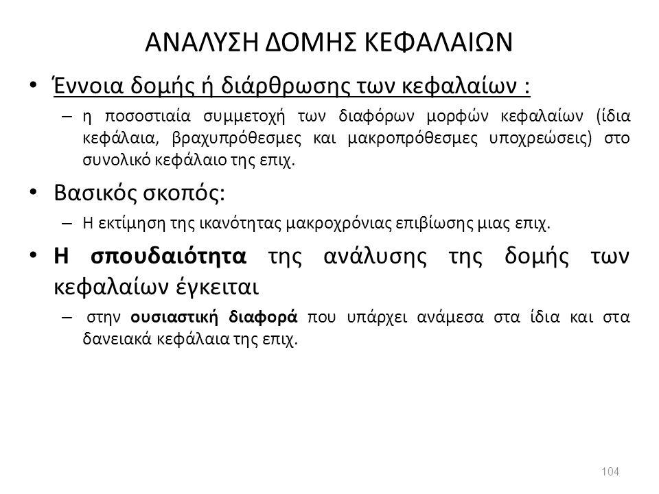 ΑΝΑΛΥΣΗ ΔΟΜΗΣ ΚΕΦΑΛΑΙΩΝ