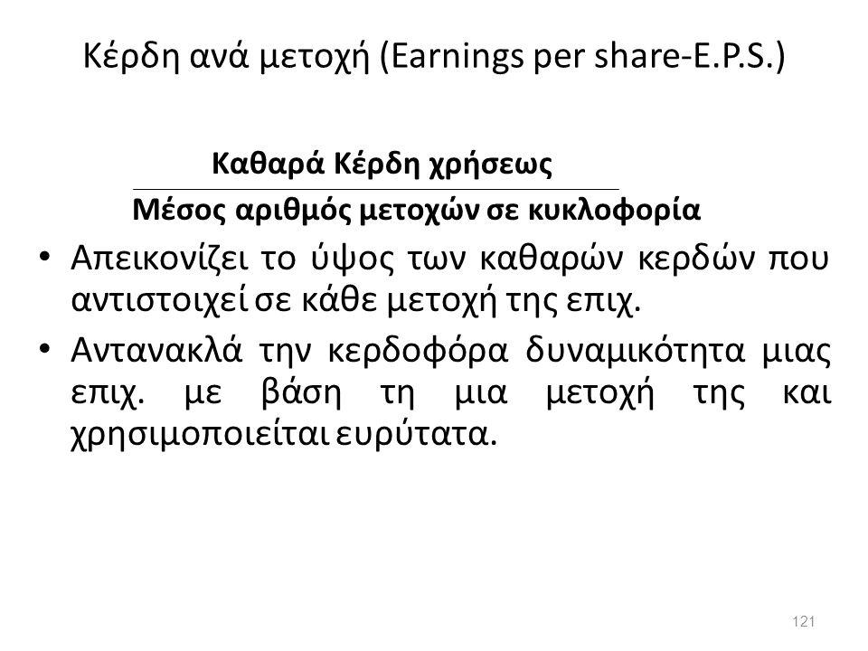 Κέρδη ανά μετοχή (Earnings per share-E.P.S.)