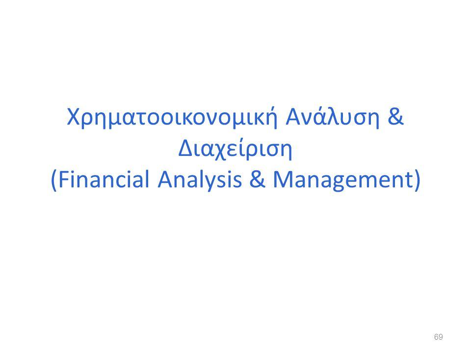 Χρηματοοικονομική Ανάλυση & Διαχείριση (Financial Analysis & Management)