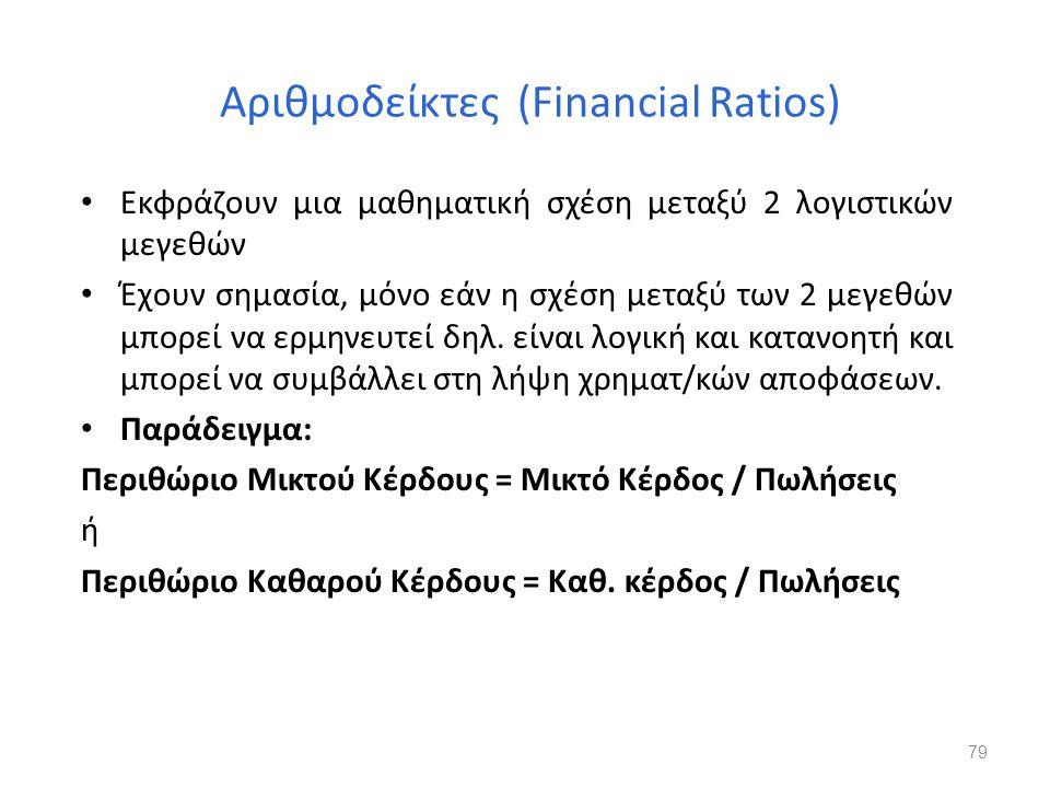 Αριθμοδείκτες (Financial Ratios)