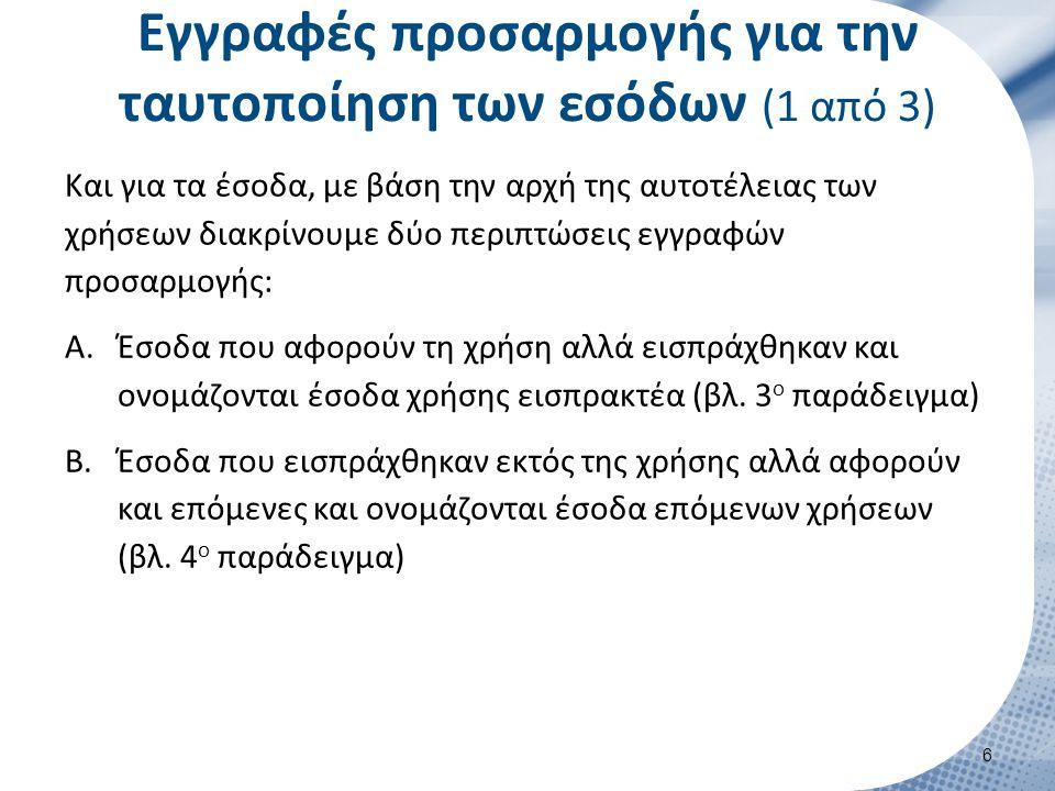 Εγγραφές προσαρμογής για την ταυτοποίηση των εσόδων (2 από 3)