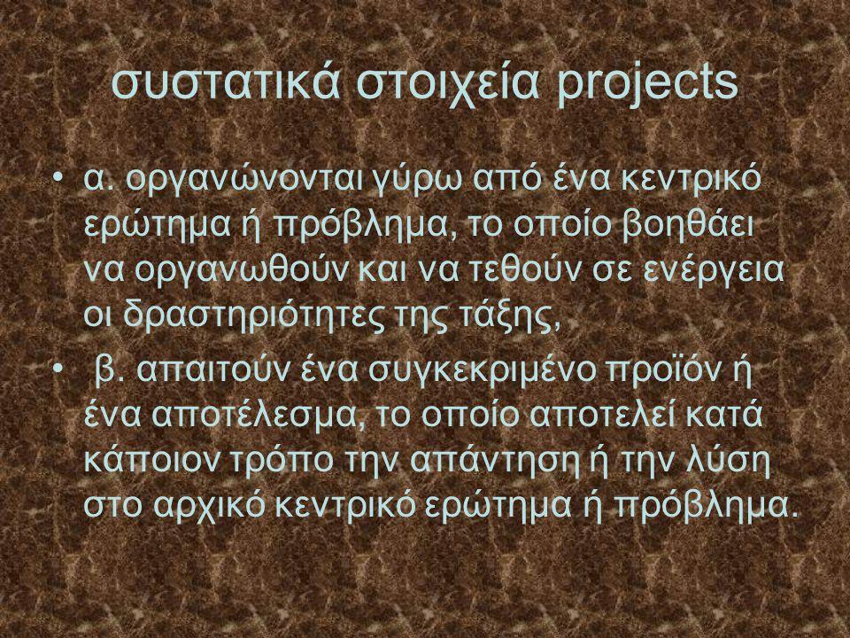 συστατικά στοιχεία projects