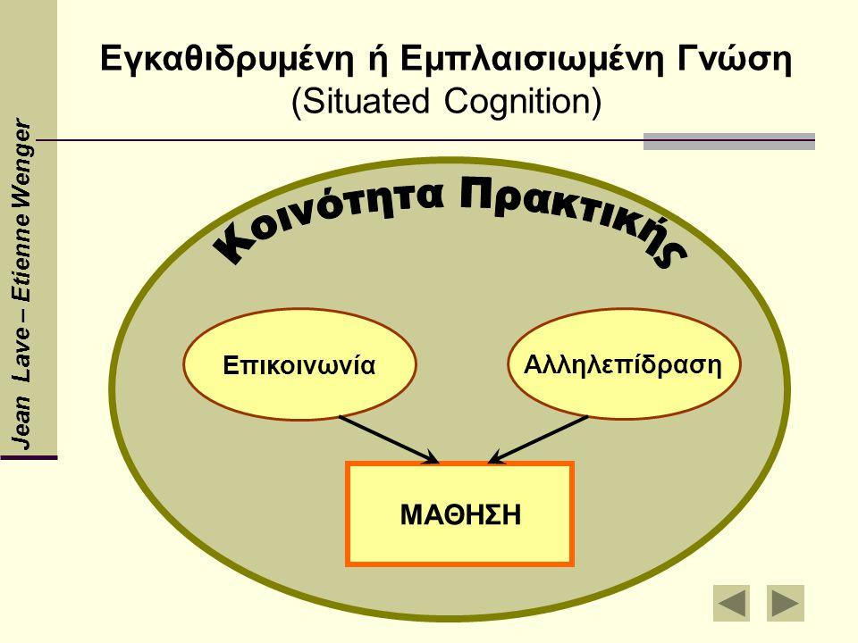 Εγκαθιδρυμένη ή Εμπλαισιωμένη Γνώση (Situated Cognition)