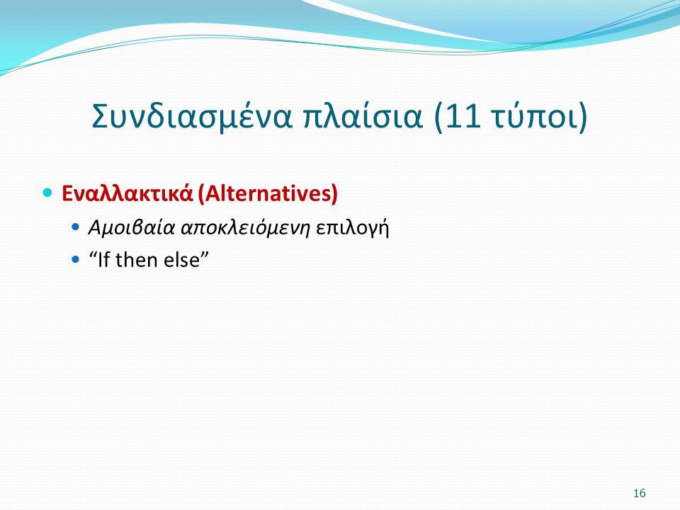 Συνδιασμένα πλαίσια (11 τύποι)