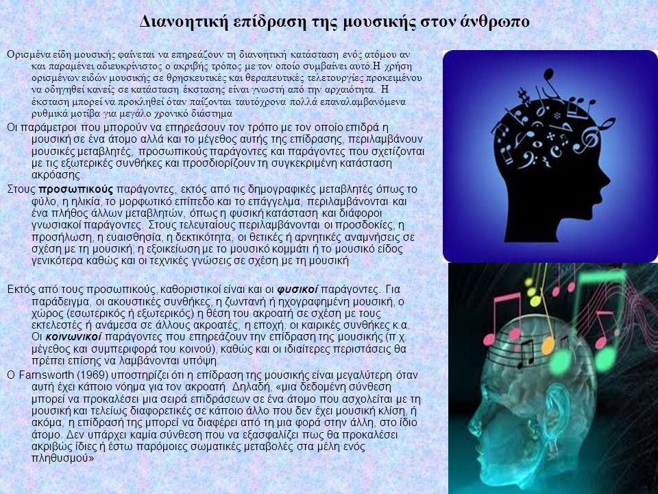 Διανοητική επίδραση της μουσικής στον άνθρωπο