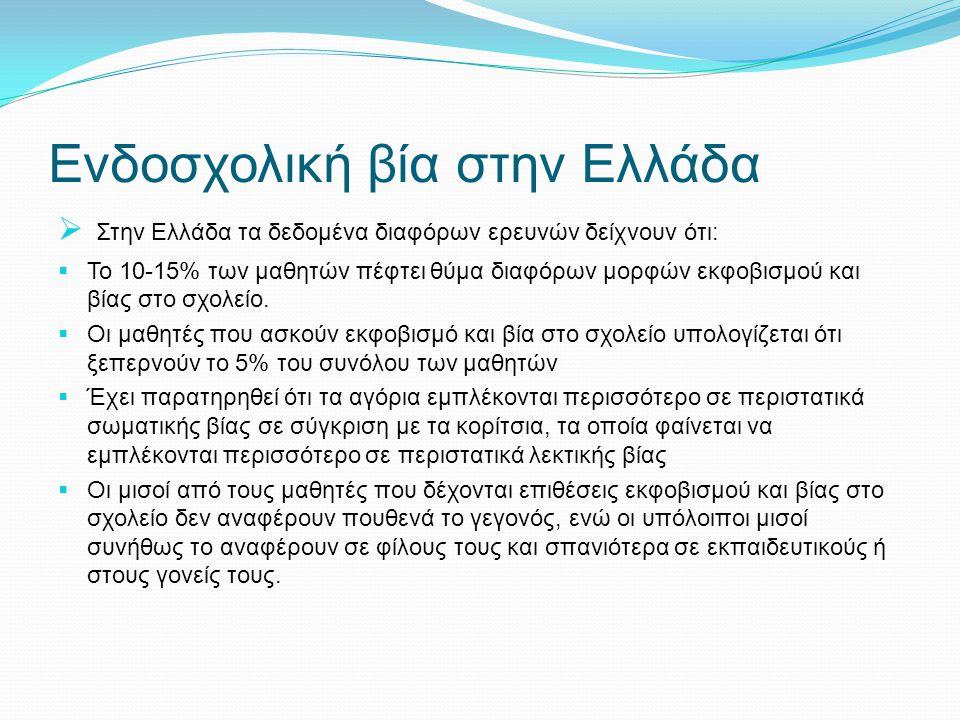 Ενδοσχολική βία στην Ελλάδα
