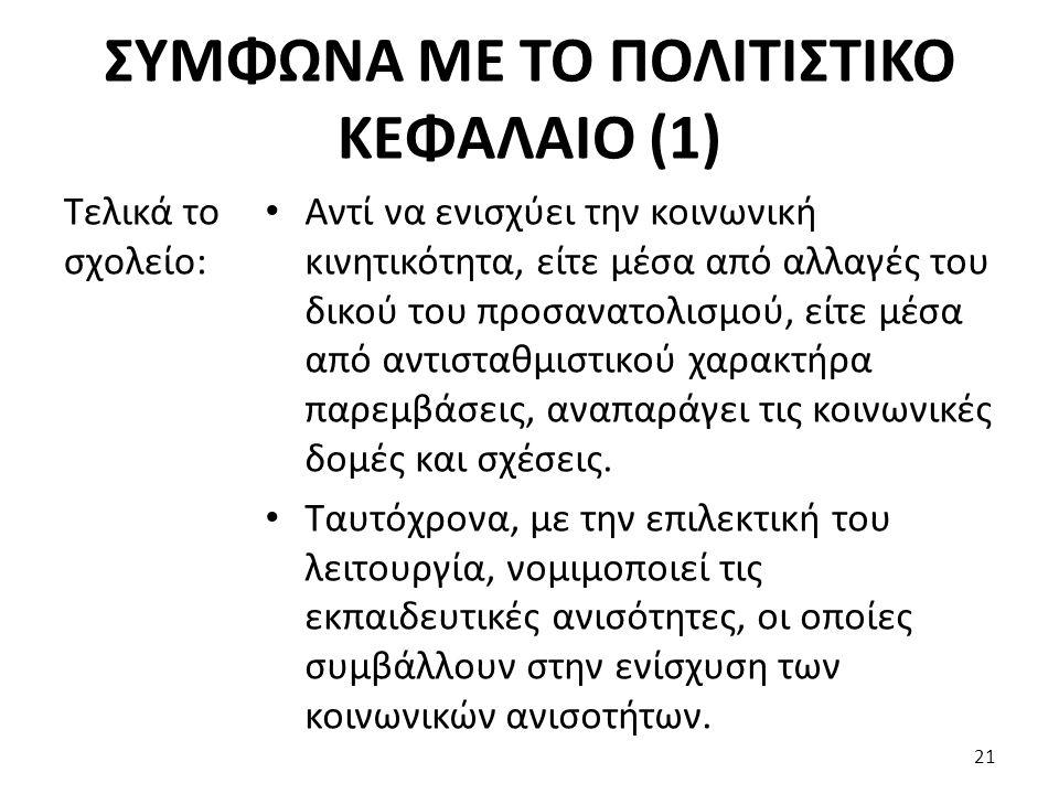 ΣΥΜΦΩΝΑ ΜΕ ΤΟ ΠΟΛΙΤΙΣΤΙΚΟ ΚΕΦΑΛΑΙΟ (1)