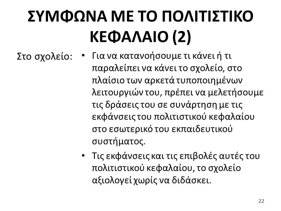 ΣΥΜΦΩΝΑ ΜΕ ΤΟ ΠΟΛΙΤΙΣΤΙΚΟ ΚΕΦΑΛΑΙΟ (2)
