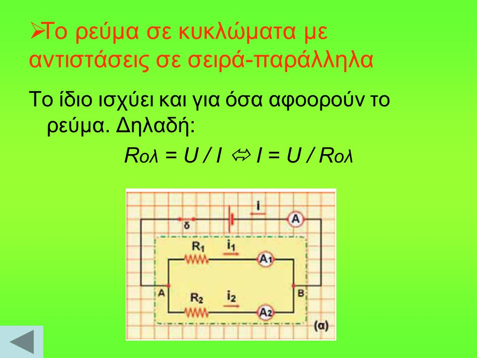 To ρεύμα σε κυκλώματα με αντιστάσεις σε σειρά-παράλληλα