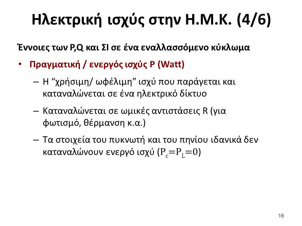 Ηλεκτρική ισχύς στην Η.Μ.Κ. (5/6)