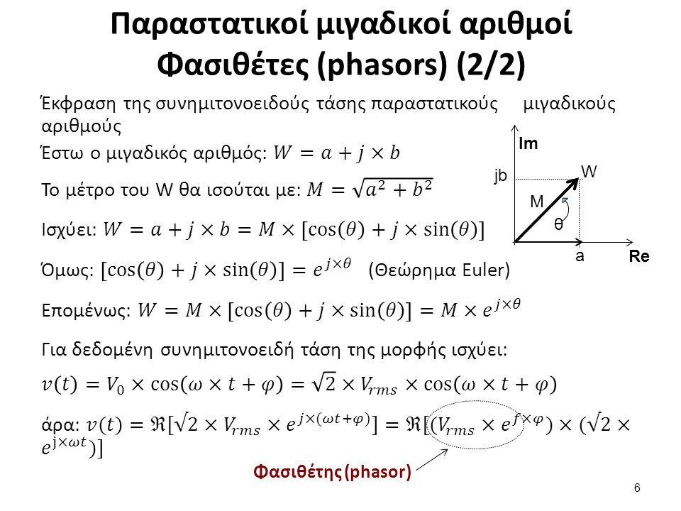 Σύνθετη αντίσταση – εμπέδηση Ζ (impedance) (1/3)