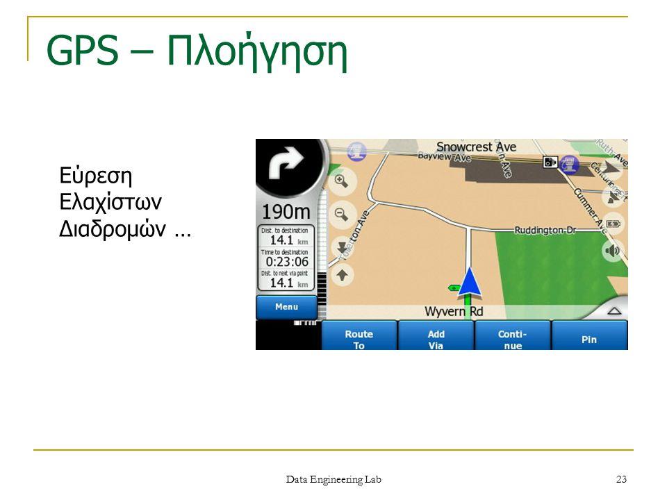 GPS – Πλοήγηση Εύρεση Ελαχίστων Διαδρομών … Data Engineering Lab