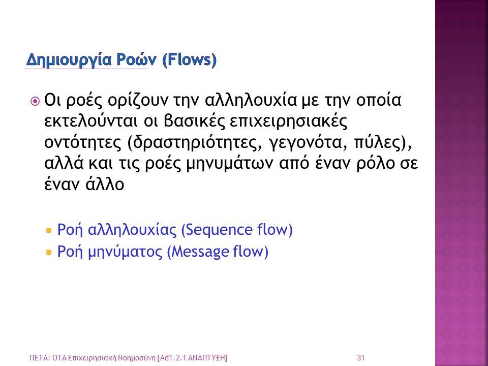 Δημιουργία Ροών (Flows)